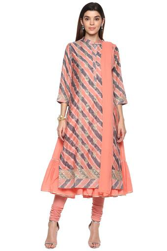 BIBA -  Peach Salwar & Churidar Suits - Main