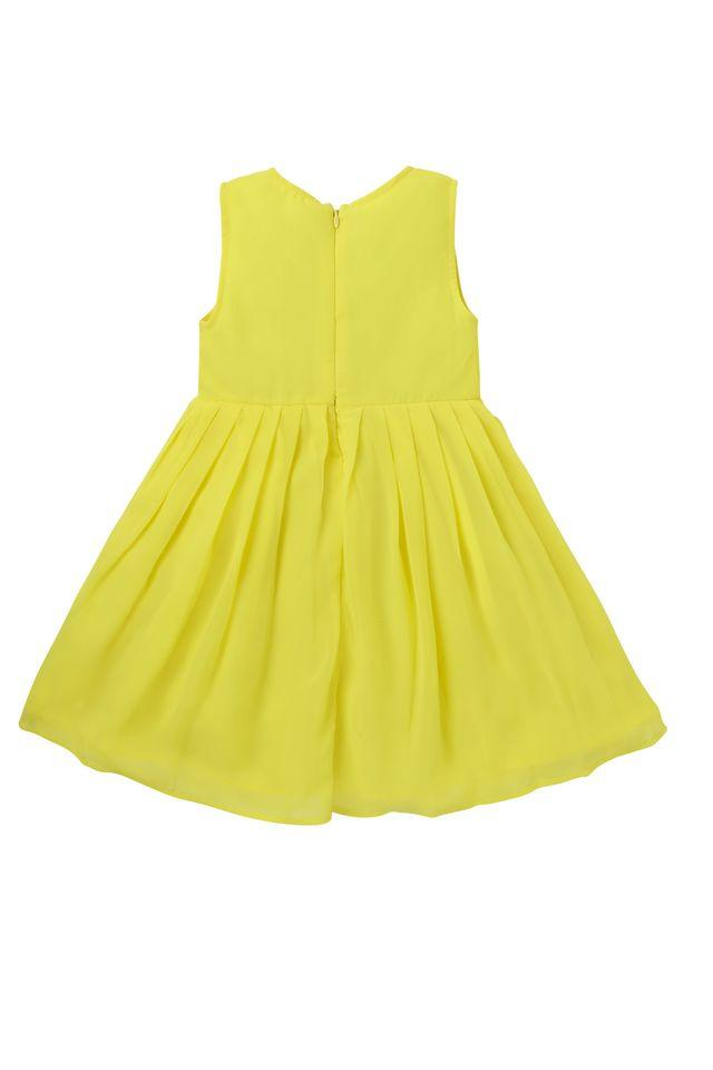 Girls Cotton Round Neck Solid Sleeveless Dress