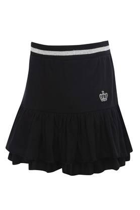 Girls Solid Tiered Skirt