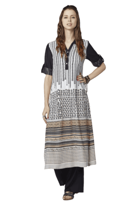 GLOBAL DESI Womens Printed Long Kurta