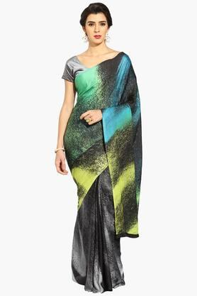 Women Shaded Print Crepe Saree