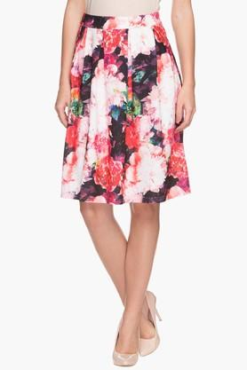 VERO MODA Womens Floral Printed Pleated Skirt