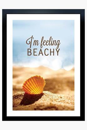 CRUDE AREA Multi Colour Im Feeling Beachy Printed Paper Poster  ...