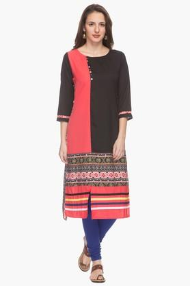 IMARA Womens Round Neck Printed Kurta (Buy Worth Rs.2500 & Get Rs.500. Off) - 201430425