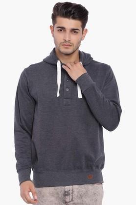 BLUE SAINTMens Pirate Black Hooded Sweatshirt