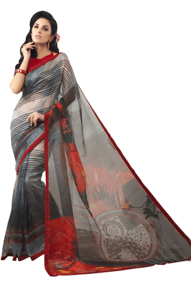 DEMARCA Women Net Designer Saree - 200133949