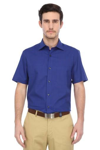 LOUIS PHILIPPE -  Mid Blue Formal Shirts - Main
