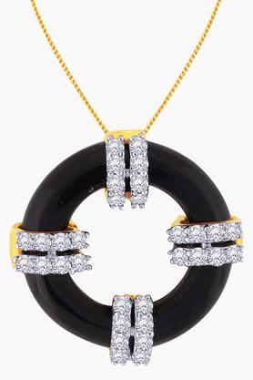 MALABAR GOLD AND DIAMONDSWomens 18 KT Gold And Diamond Pendant