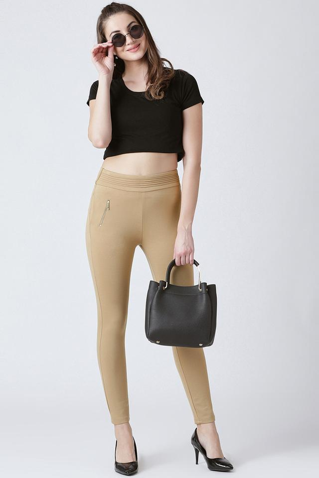 Womens Skinny Fit Coated Jeggings