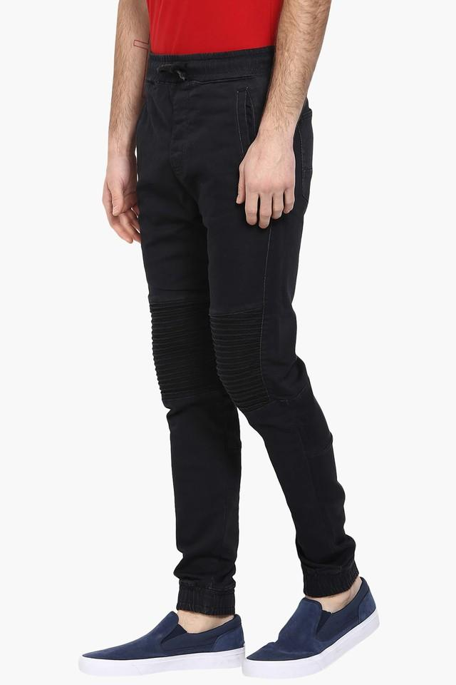 Mens Straight Fit Solid Joggers