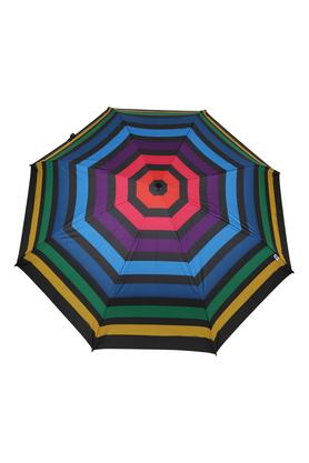 Unisex Manual Striped 3 Fold Umbrella