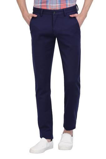 ALLEN SOLLY -  Navy Cargos & Trousers - Main