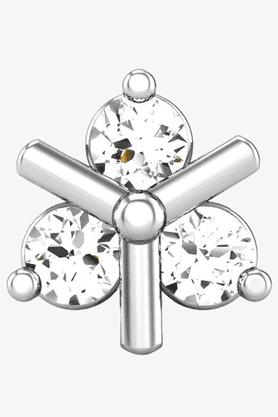 VELVETCASEWomens 18 Karat White Gold Nose Ring (Free Diamond Pendant) - 201065039