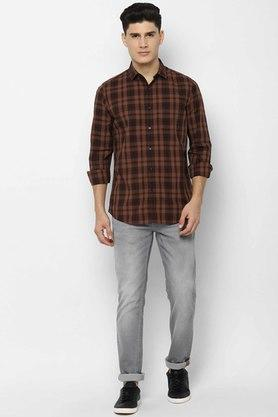 ALLEN SOLLY - Chocolate Casual Shirts - 3