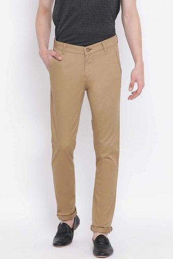 CRIMSOUNE CLUB -  BrownCasual Trousers - Main