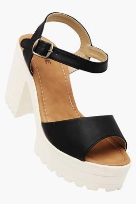 LAVIEWomens Casual Wear Buckle Closure Heels