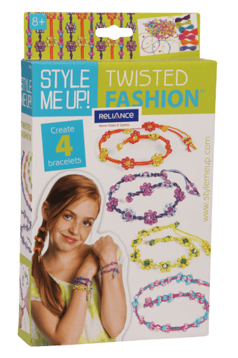 Girls Twisted Bracelet with Beads Set