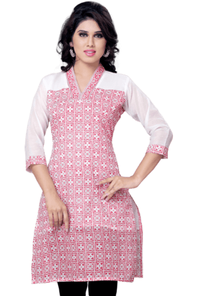 DEMARCA Womens Printed Kurta (Buy Any Demarca Product & Get A Pair Of Matching Earrings Free) - 200936882