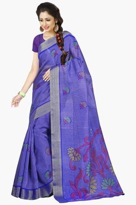 DEMARCAWomens Silk Designer Saree