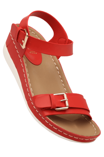 Upto 50% Off On Selected Styles By Shopperstop | Womens Daily Wear Ankle Buckle Closure Wedge Sandal @ Rs.1,650