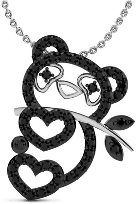 SPARKLESHis & Her Collection 92 Kt His & Her Diamond Pendants In 925 Sterling Silver And Real Diamond HHP10923-92KT