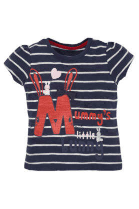 MOTHERCARE Boys Cotton Round Neck Cap Sleeves Printed T-Shirt
