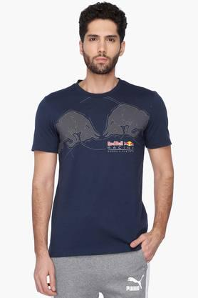 PUMA Mens Short Sleeves Round Neck Printed T-Shirt