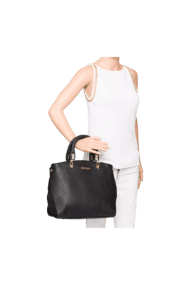 Womens Solid PU Handbag