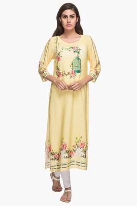 KASHISH Womens Round Neck Printed Kurta - 201919773