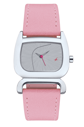 014ff94c7 Buy FASTRACK Ladies Watch with Pink Leather Strap - 6091SL01 ...