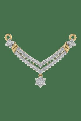 TARA JEWELLERSWomens 18 Karat Gold And Diamond Mangalsutra Pendant - 200944717_9999