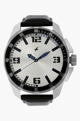 FASTRACKMens Grey Dial Leather Strap Watch - 201143722