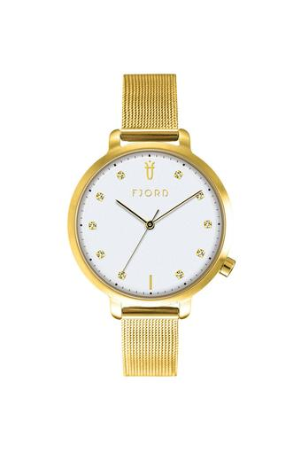 Womens White Dial Metallic Analogue Watch - 6044-33