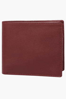 STOP Mens Leather Horizontal 1 Fold Wallet - 200856170