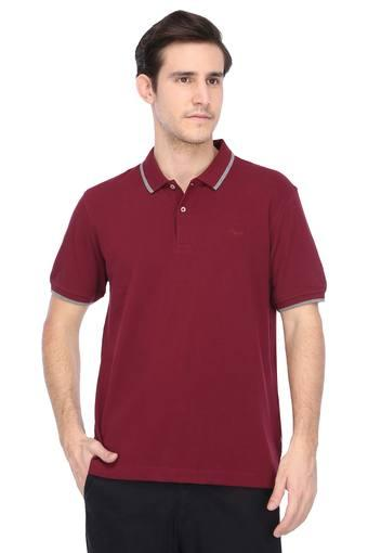 FLYING MACHINE -  Maroon T-shirts - Main