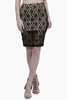 FABALLEY Womens Lace Pencil Skirt - 201560019
