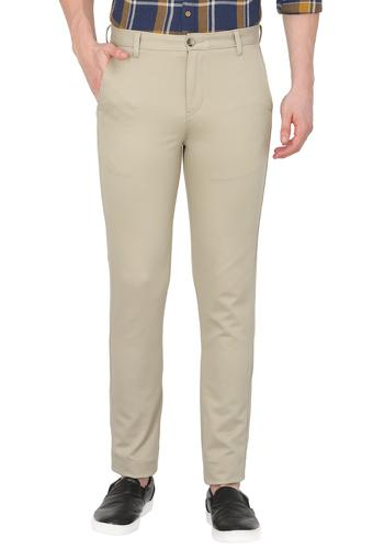 STOP -  Light Olive Formal Trousers - Main