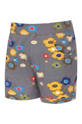 Girls 2 Pocket Floral Printed Shorts