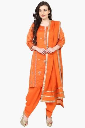 Womens Poly Cotton Straight Fit Suit Set - 202179662