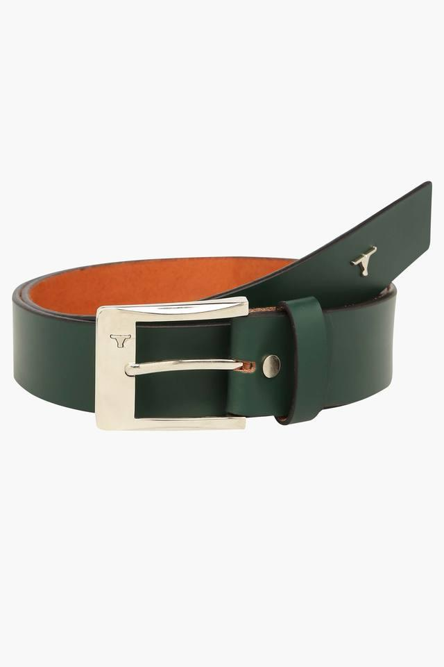 Mens Buckle Closure Leather Casual Belt