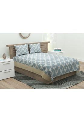 Jacquard Ogee Printed Bed Cover