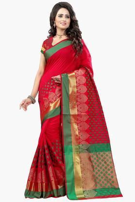 DEMARCAWomen Poly Cotton Designer Saree - 202529268