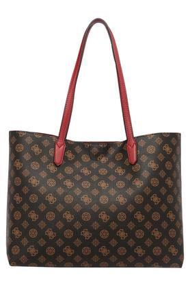 Womens Twist Clasp Closure Tote Handbag with Handbag