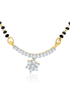 MAHI Mahi Rhodium Plated Mangalsutra Set For Women NL1101955R