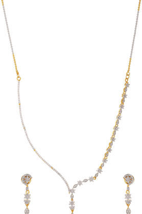 TUAN Uniquely Hand-crafted Designer Diamond Necklace Set For Women -INK-776