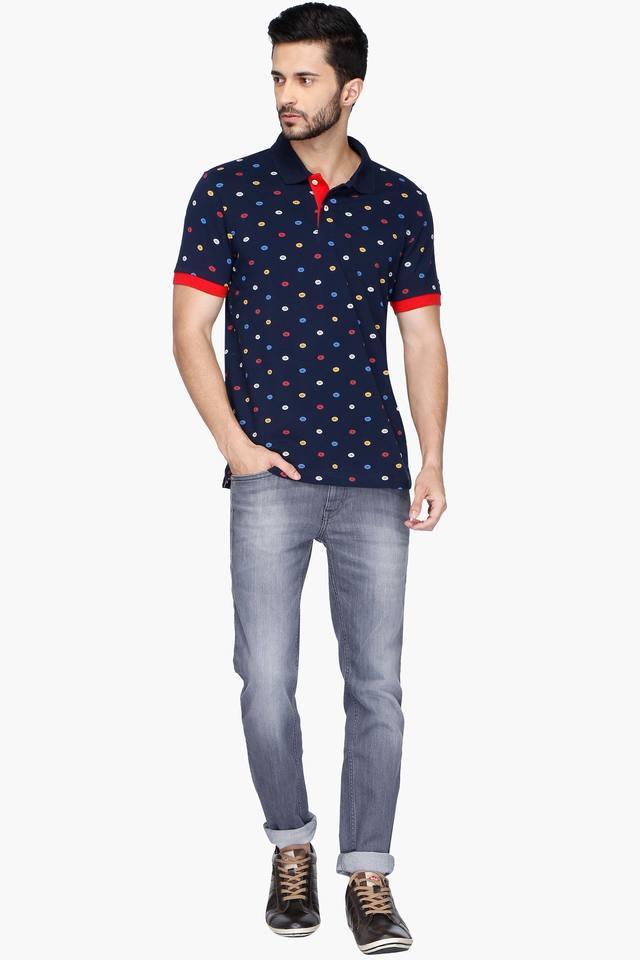 Mens Regular Fit Printed Polo Anti UV T-Shirt