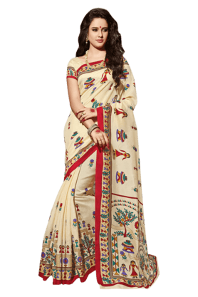 DEMARCA Women Art Silk Saree (Buy Any Demarca Product & Get A Pair Of Matching Earrings Free) - 200875567