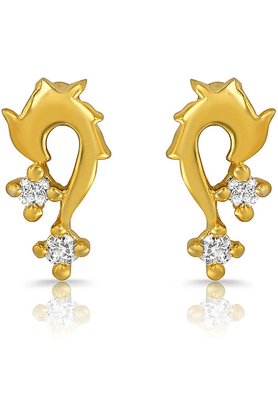 MAHIMahi Gold Plated Unmistakable Earrings With Crystals For Women ER1108878G