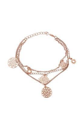 Womens Brass Stamping Hanging Bracelet