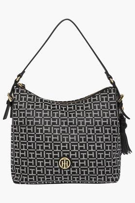 TOMMY HILFIGER Womens Zipper Closure Hobo Handbag  ...